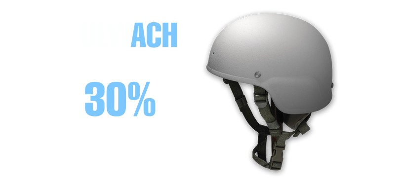 The ArmorSource Ultra-Lightweight Ballistic Helmet, ULWACH AS-511, is a revolutionary design in head protection, featuring extemely high ballistic and fragment performance  while providing excellent comfort due to the lightweight design and flexible pad system.